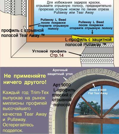 Виниловые профили для обрамления гипсокартонных конструкций